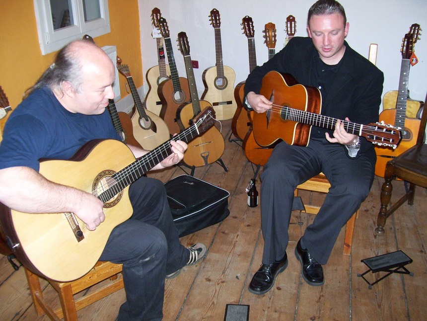 Kai Heumann and Doug Martin at the Gitarrenzentrum