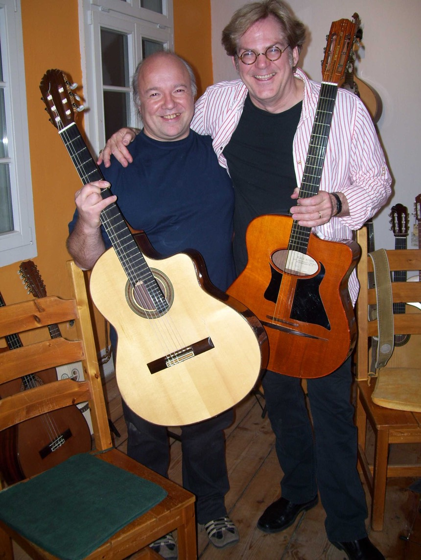 John Jorgenson and Kai Heumann at the Gitarrenzentrum