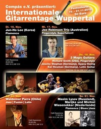 Internationale Gitarrentage Wuppertal. Plakat © Petra Leufen
