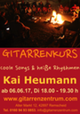 2017 06 06 Plakat Workshop Kai Heumann heiße songs Din A3 hoch