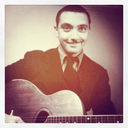 Photo of Django Reinhardt when he was 18 years old.