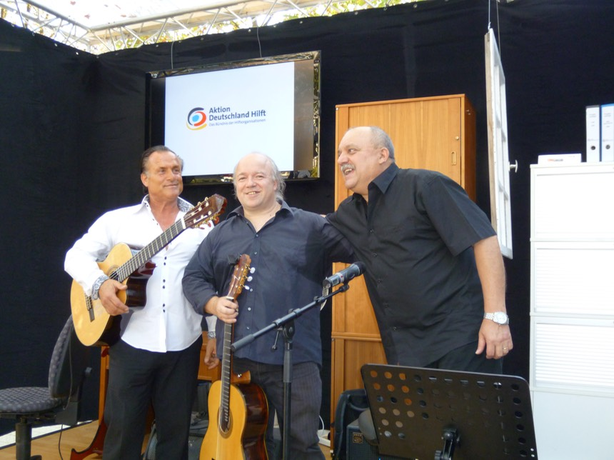 "Mike Reinhardt, Kai Heumann and Sergio Mansilla at the ""Deutschlandfest"" in Bonn"