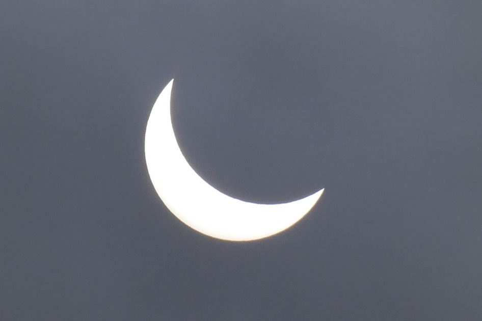 partial solar eclipse. lennep 2015