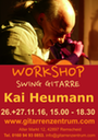 Plakat Workshop Swinggitarre Din A3 hoch